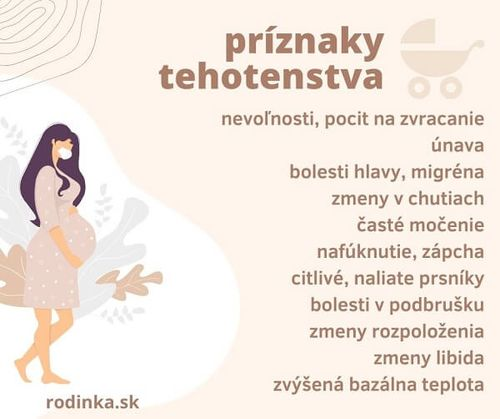 Tehotenské príznaky