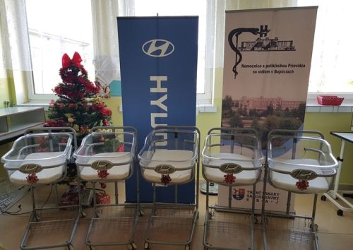 Novorodenci v Bojniciach majú nové Hyundai postieľky
