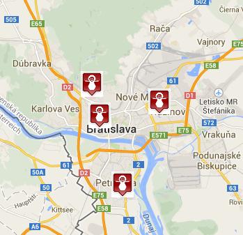 Slovenské pôrodnice na mape - Sprievodca pôrodnicami